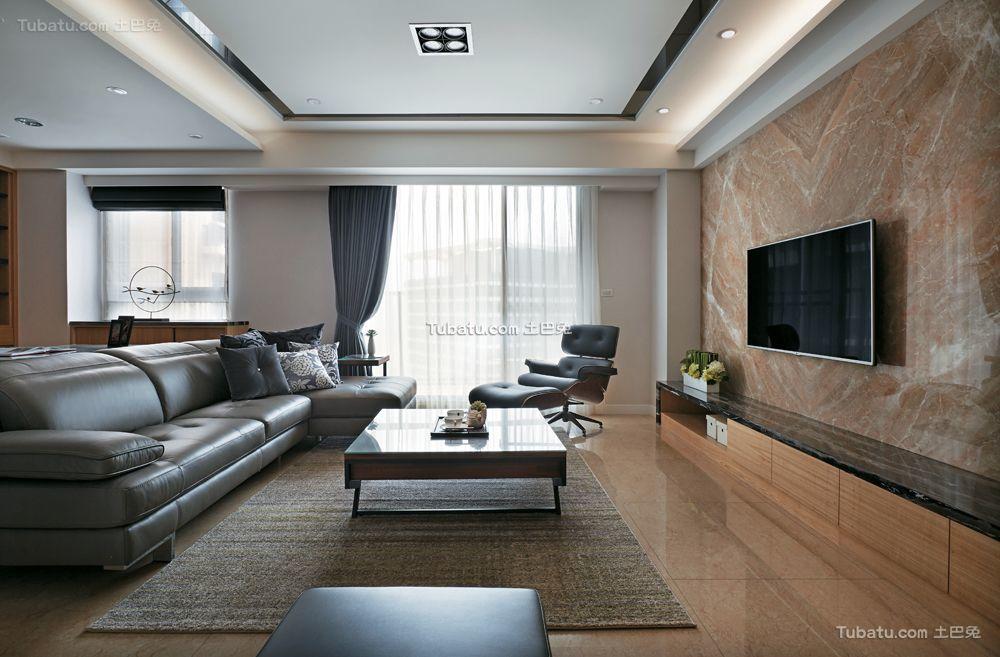 现代舒适两居室内装饰效果图片
