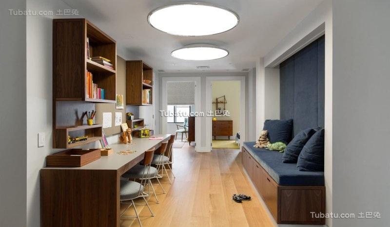 纽约时尚公寓家庭办公室设计