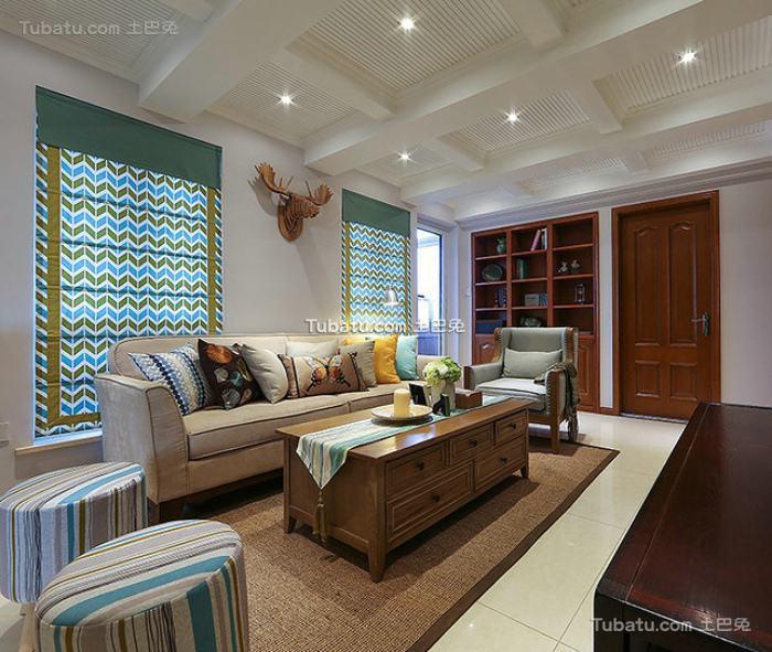 美式设计小客厅大全