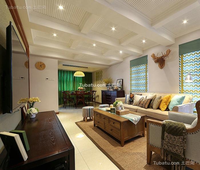 美式装修两室两厅大全