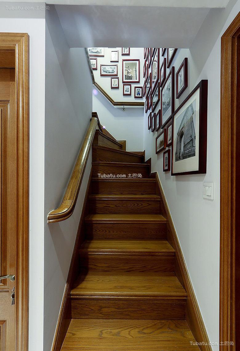 装修美式楼梯大全