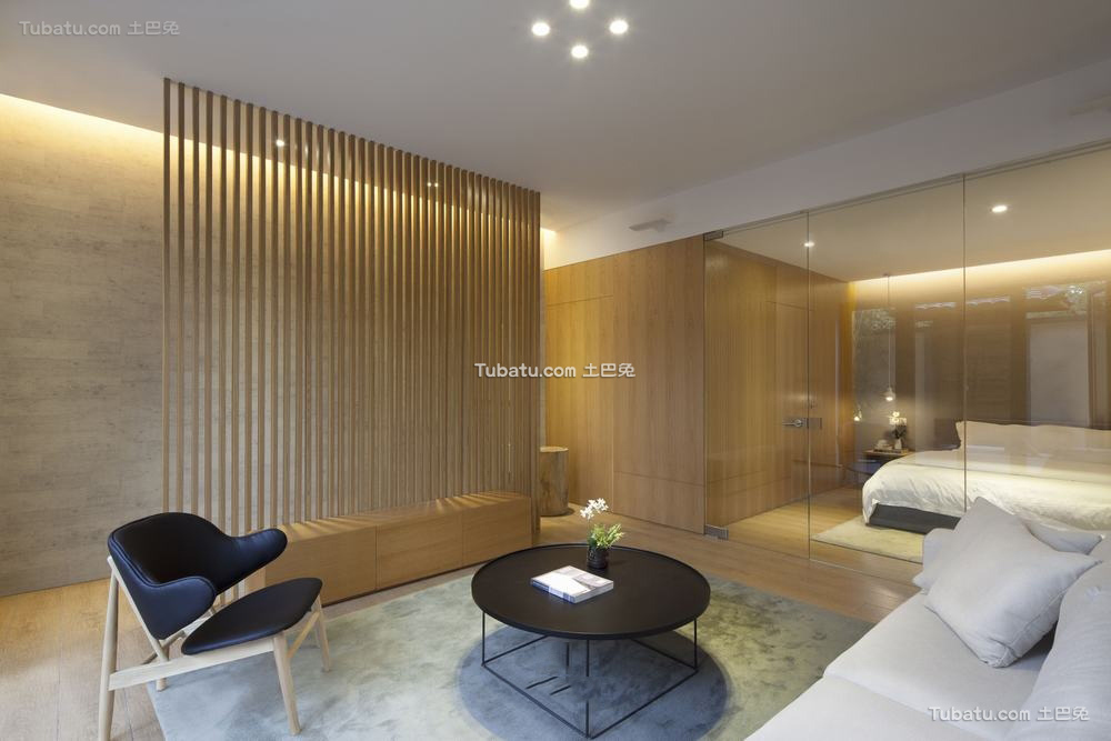 现代设计客厅隔断图大全欣赏