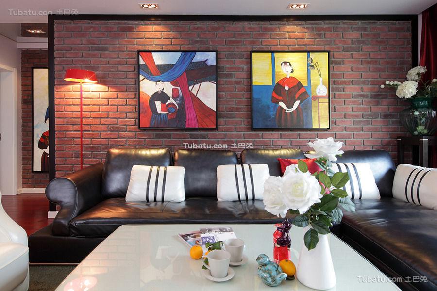 多元素潮流混搭客厅装饰