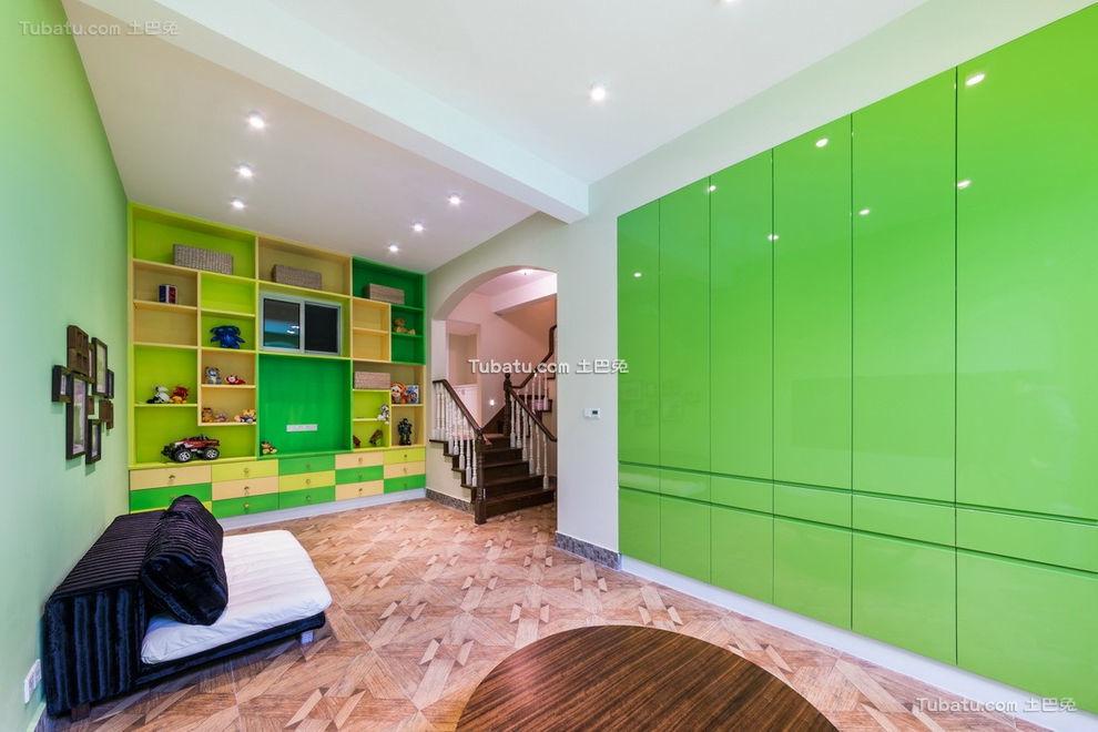 现代绿色儿童娱乐室设计