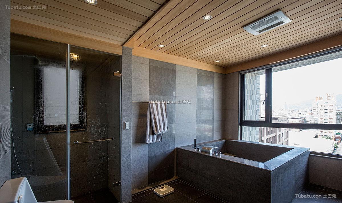 美式现代室内卫生间装修图片
