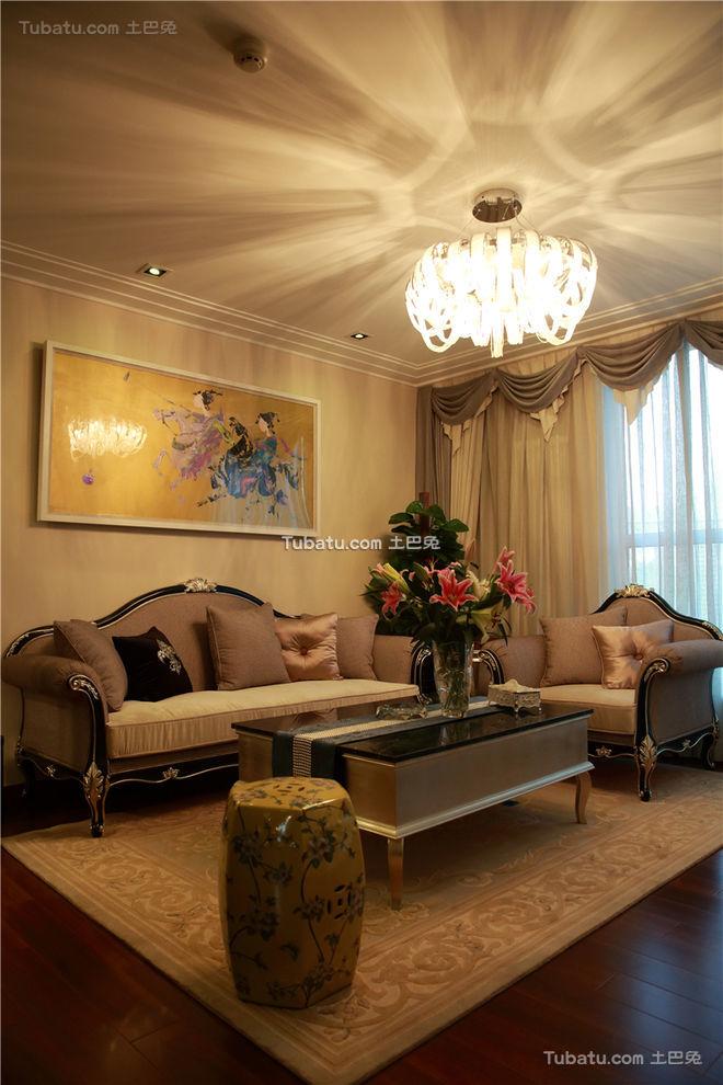 中西合璧混搭客厅设计