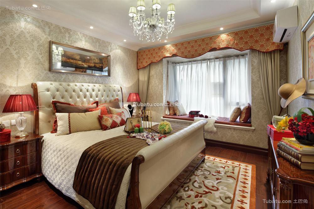 美式设计装修卧室窗帘