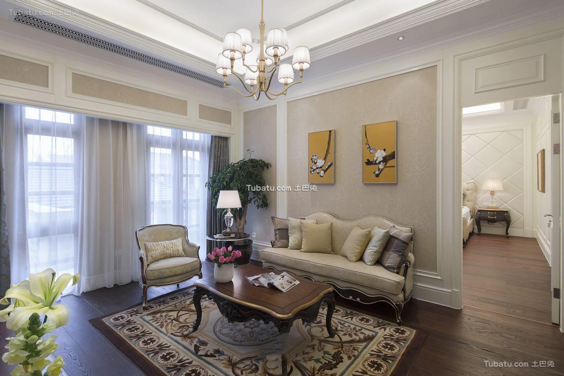 欧式装修设计客厅窗帘