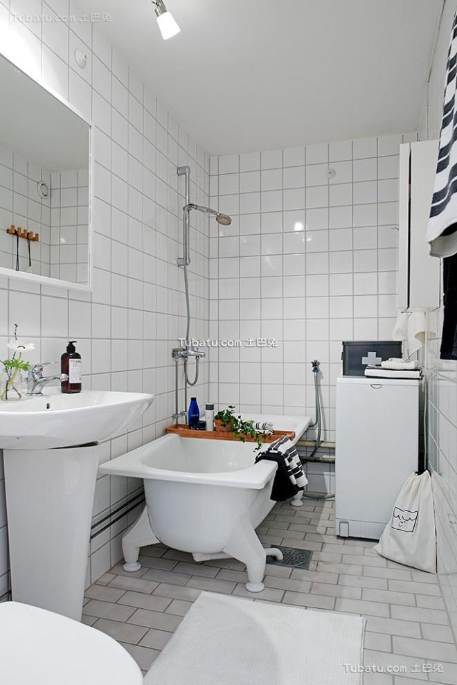 白色北欧风格卫生间设计