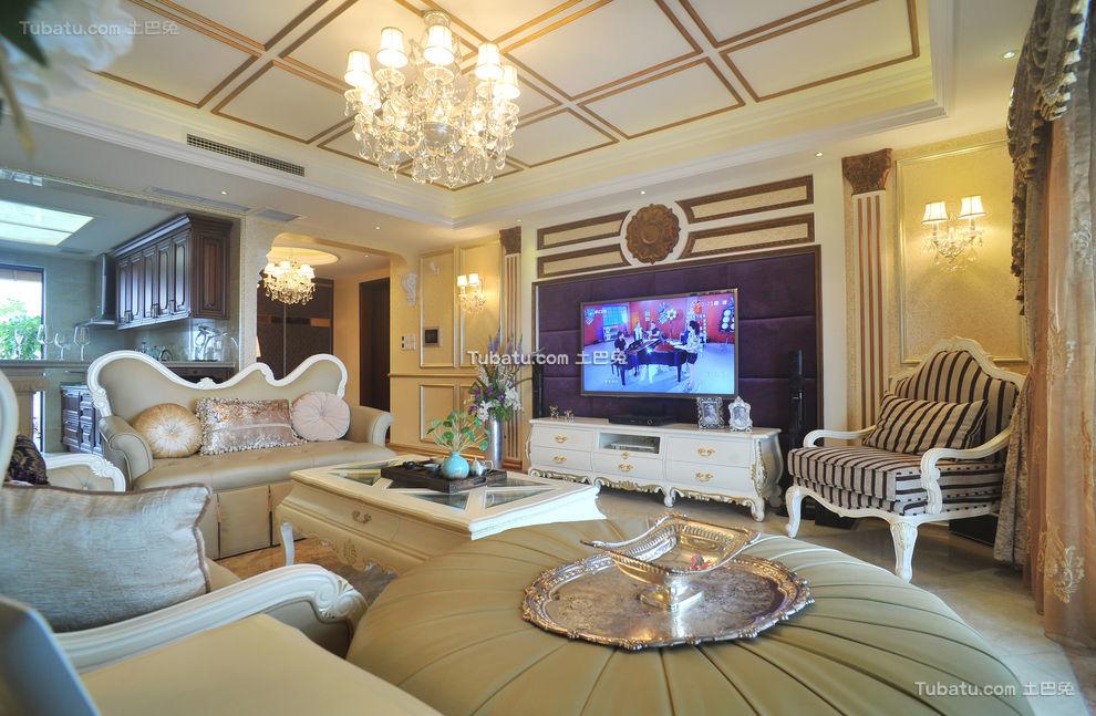 时尚精美欧式三居室装潢大全