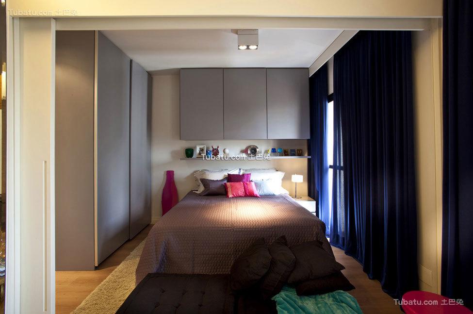 色彩搭配丰富精致公寓卧室设计