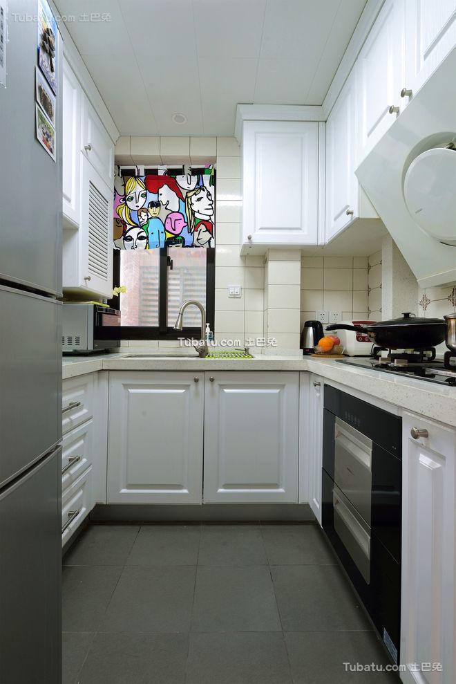 简约美式厨房装修美图