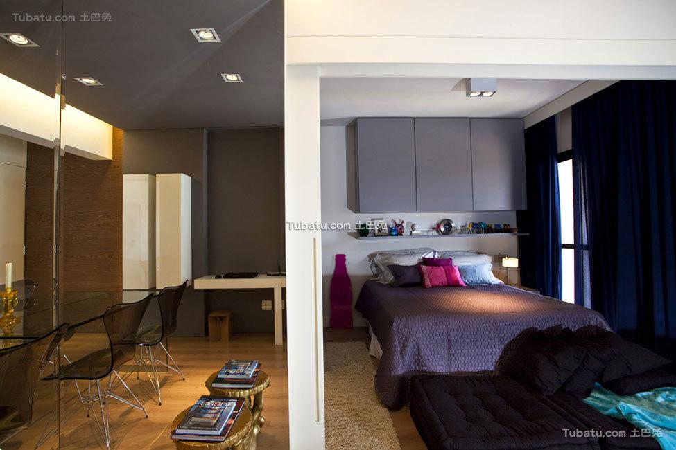 色彩搭配丰富的公寓隔断设计
