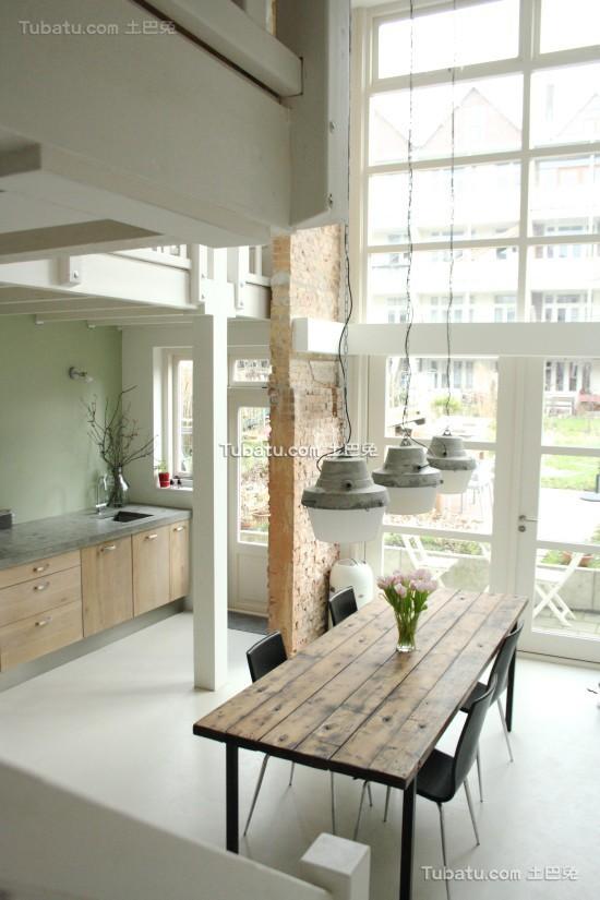 全开放式家居装修餐厅设计