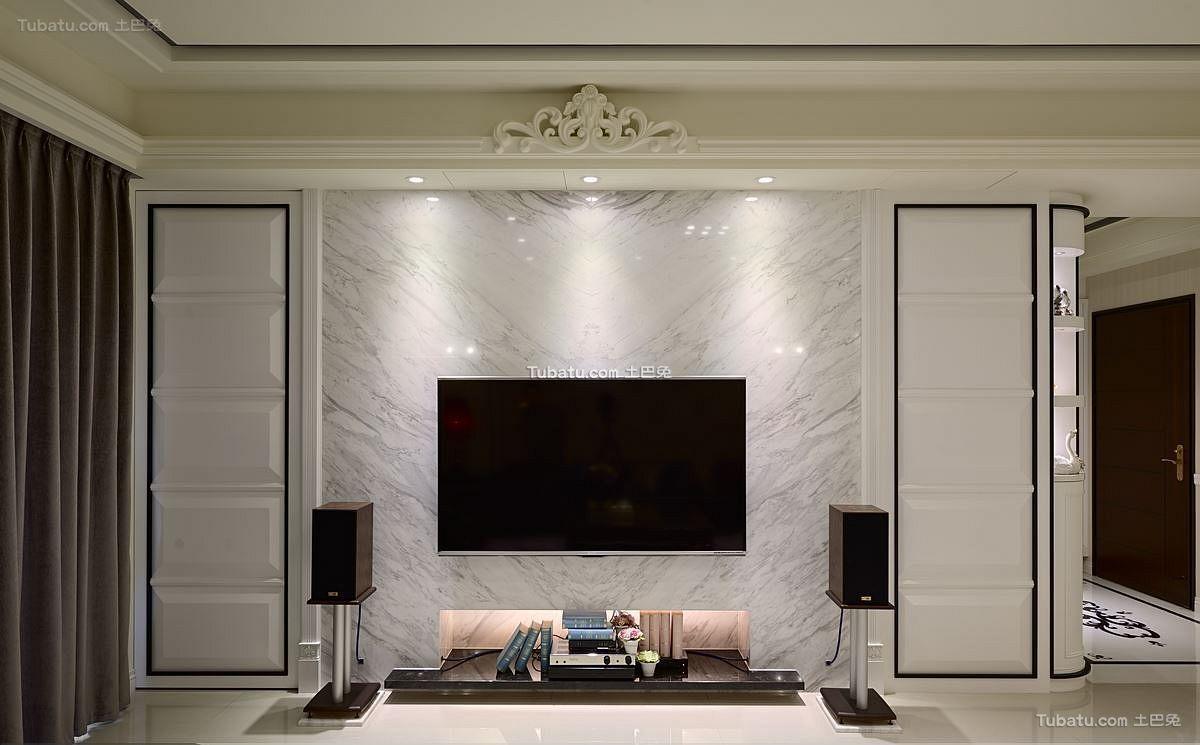 大理石电视背景墙装修效果