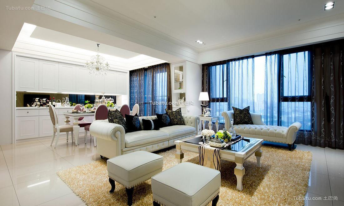 时尚简约客厅设计装饰效果图