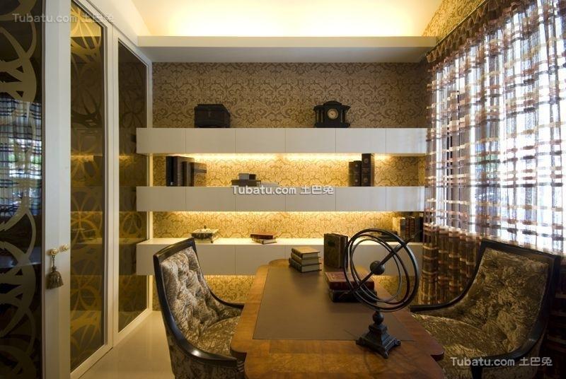 现代豪华书房装潢设计