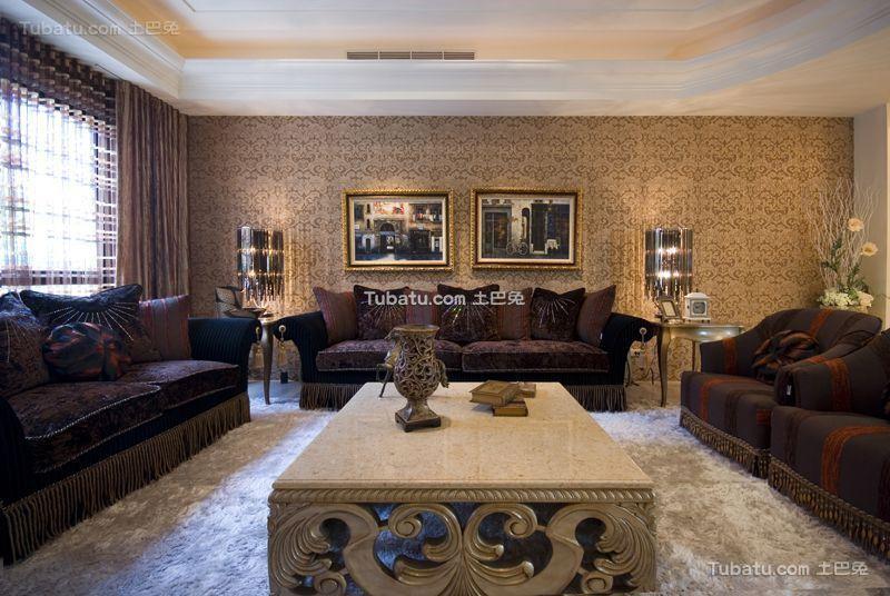 低调豪华新古典风格客厅