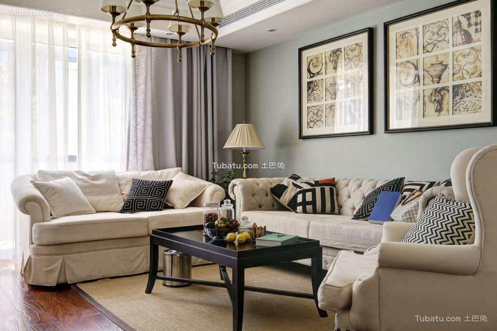 浪漫美式客厅家居布置