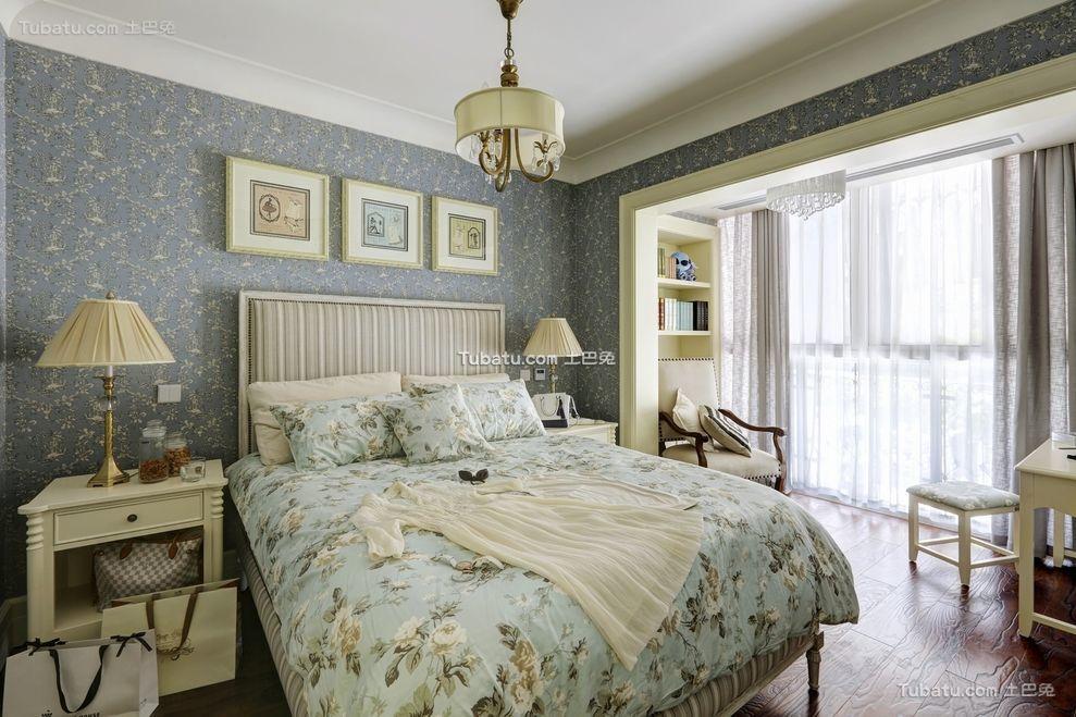 轻盈浪漫美式卧室设计