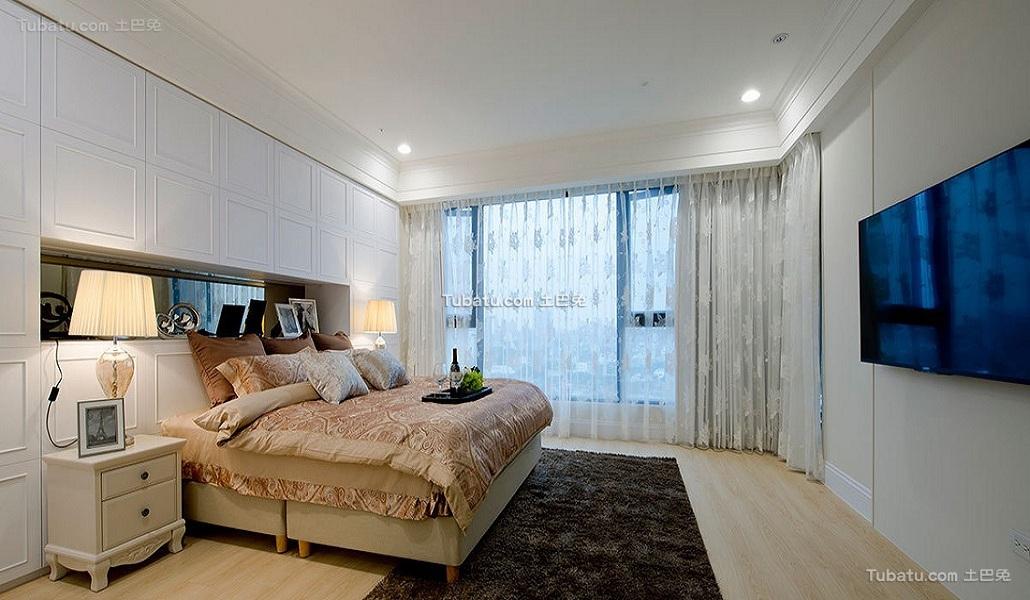 时尚纯白简约卧室装饰效果图