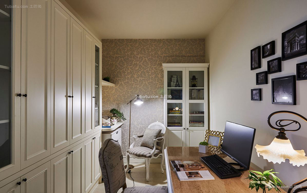 最新美式书房家居装饰效果图片