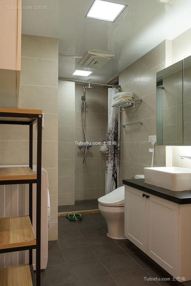 干净整洁宜家卫生间设计