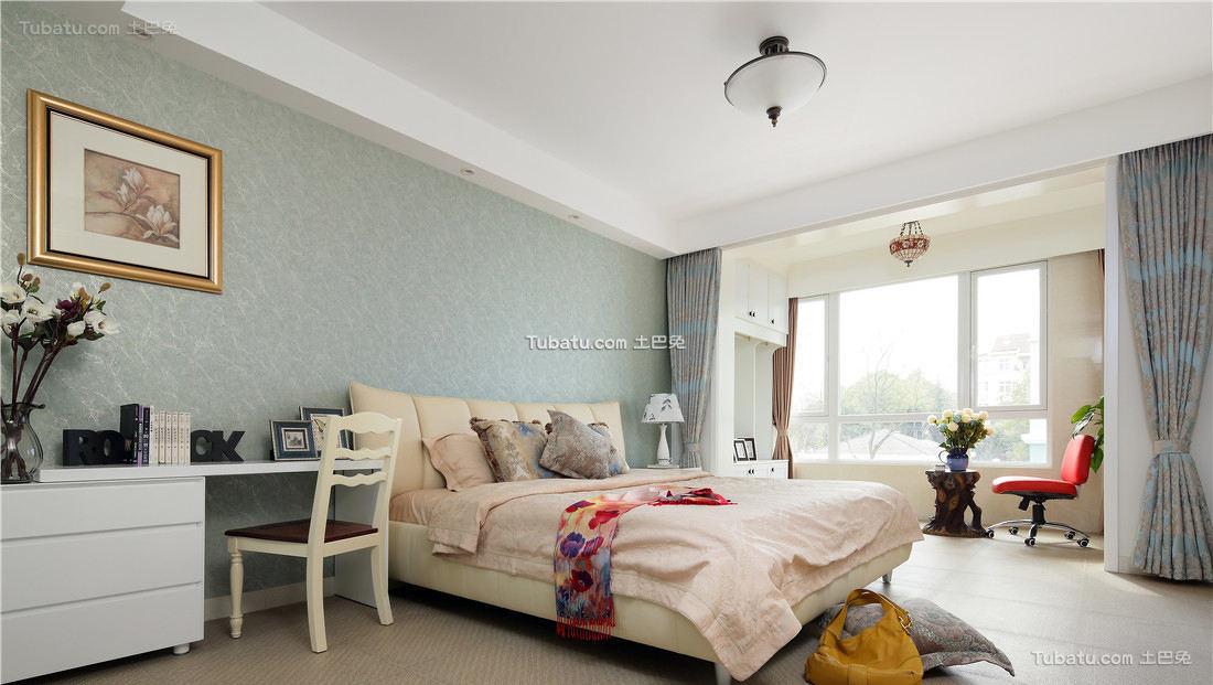 新古典简约设计卧室装修效果图