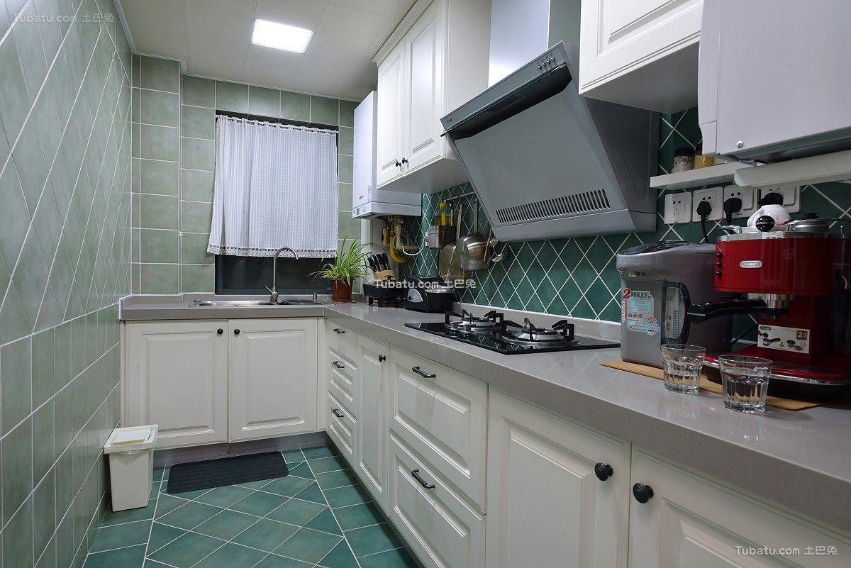 绿色美式厨房装潢大全