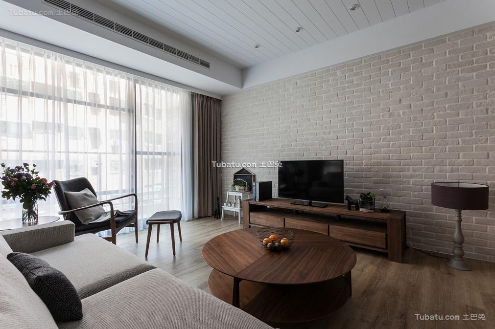 宜家风格客厅背景墙设计装饰效果图