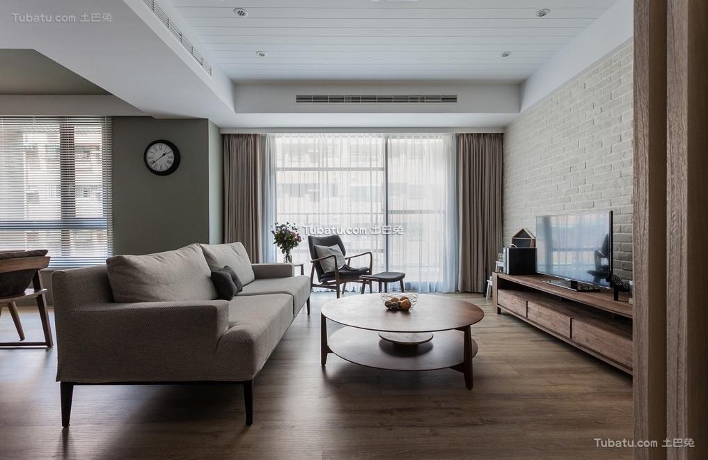 宜家风格公寓客厅装饰效果图片