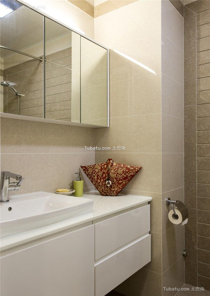美式现代室内卫生间装饰效果图
