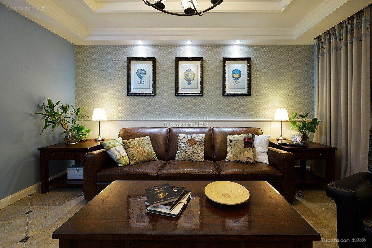 休闲贵气美式客厅设计