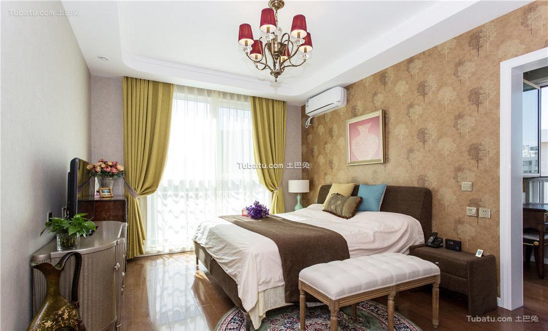 典雅美式卧室室内装饰效果图