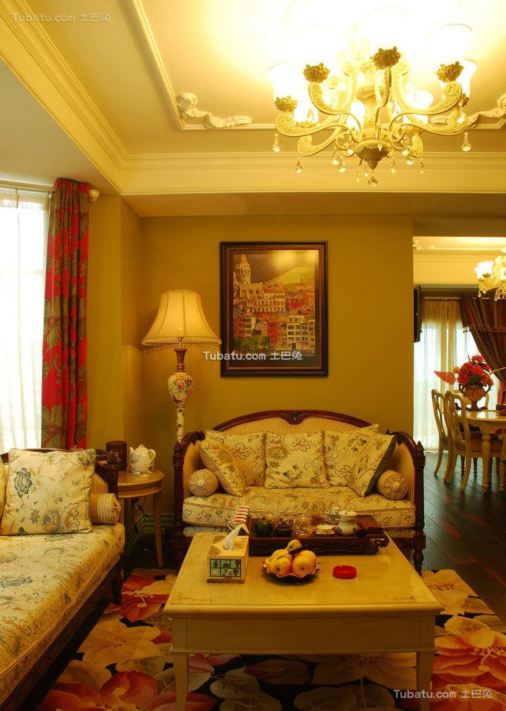 北美风格别墅设计室内效果图片
