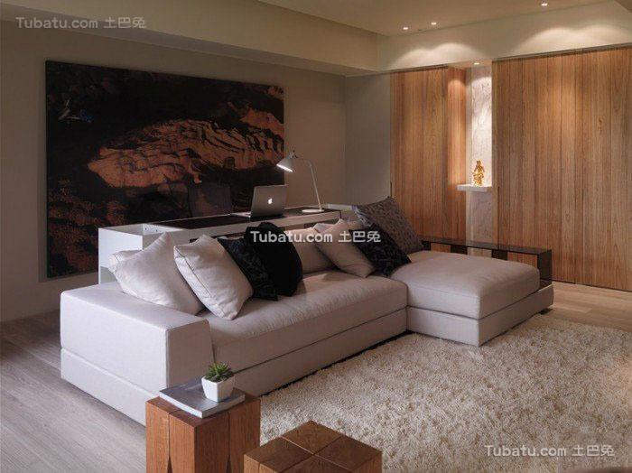 温馨中性色系简约一居室设计