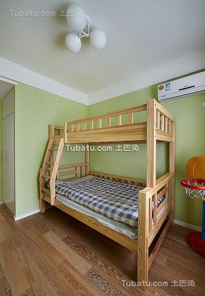 绿色自然宜家风格儿童房设计