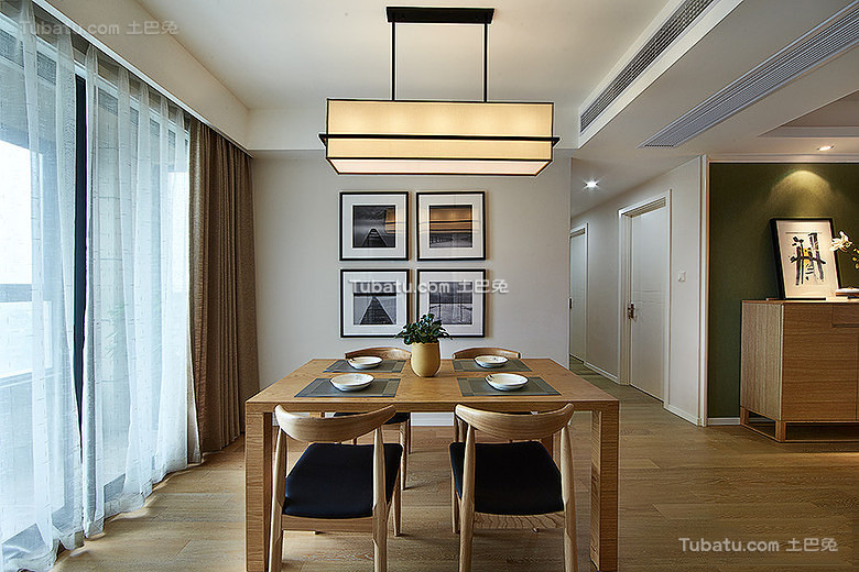 自然原木宜家风格餐厅设计
