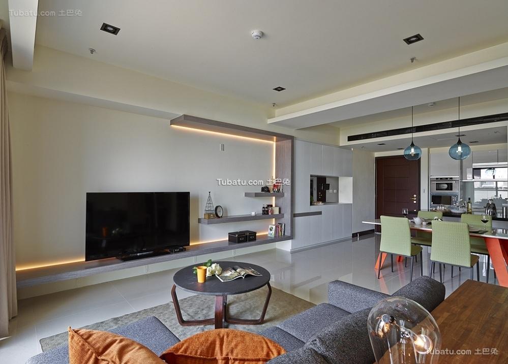 简约一居客厅设计装修效果图