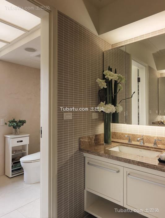 现代简约室内家居卫生间效果图片