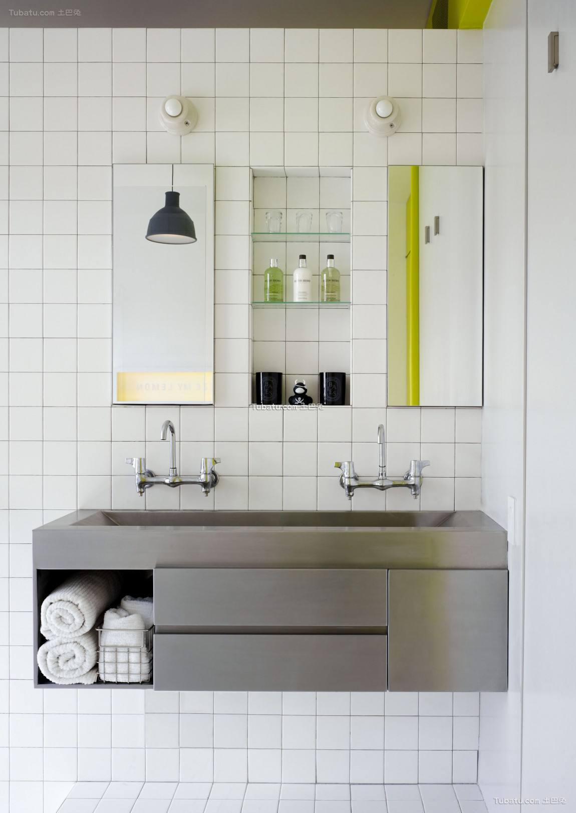 混搭小清新风格卫生间设计
