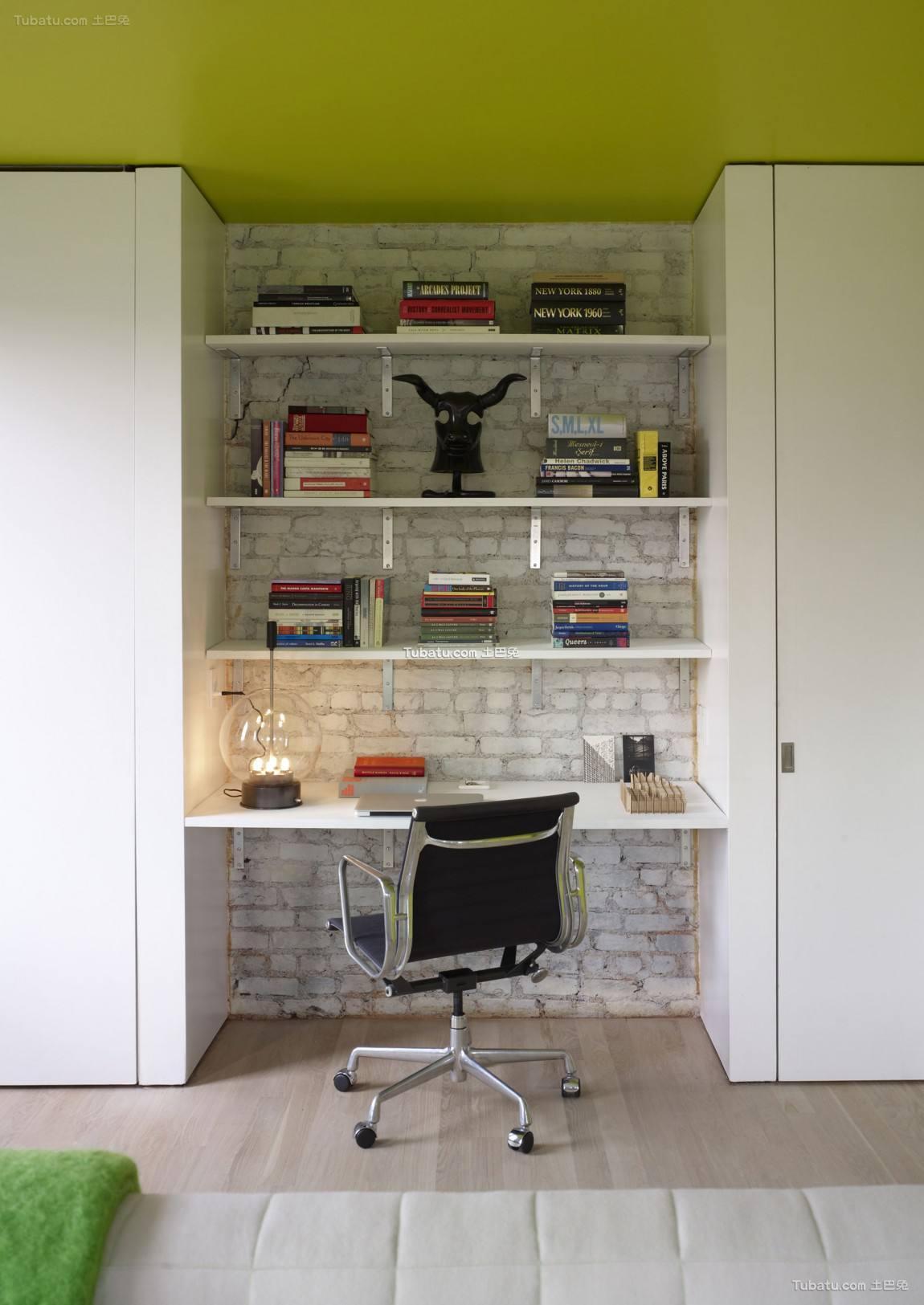 绿色小清新书房设计