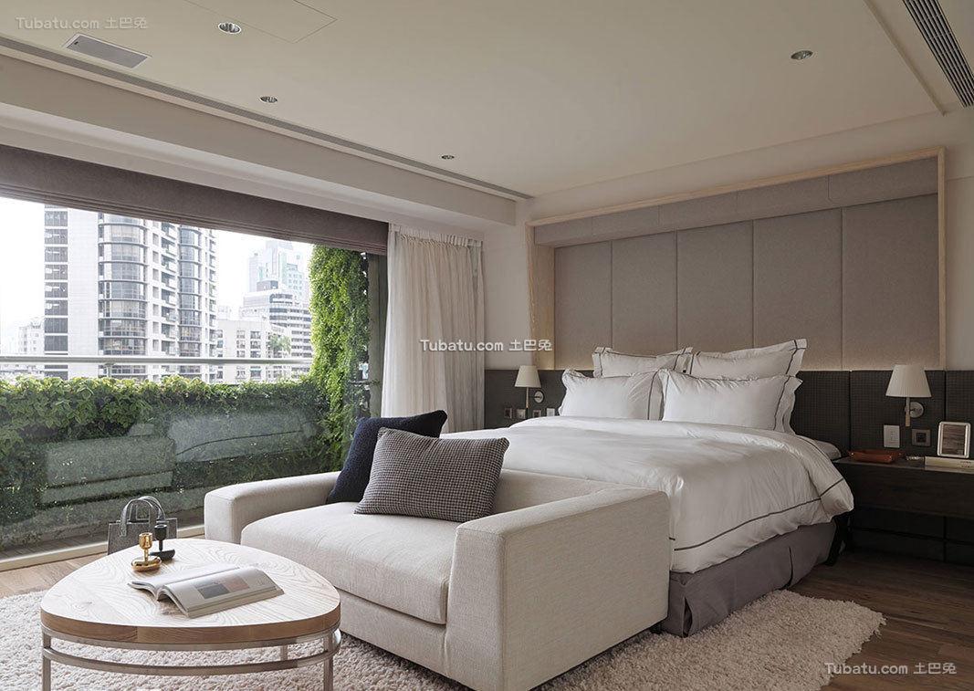 现代极简卧室室内设计效果图