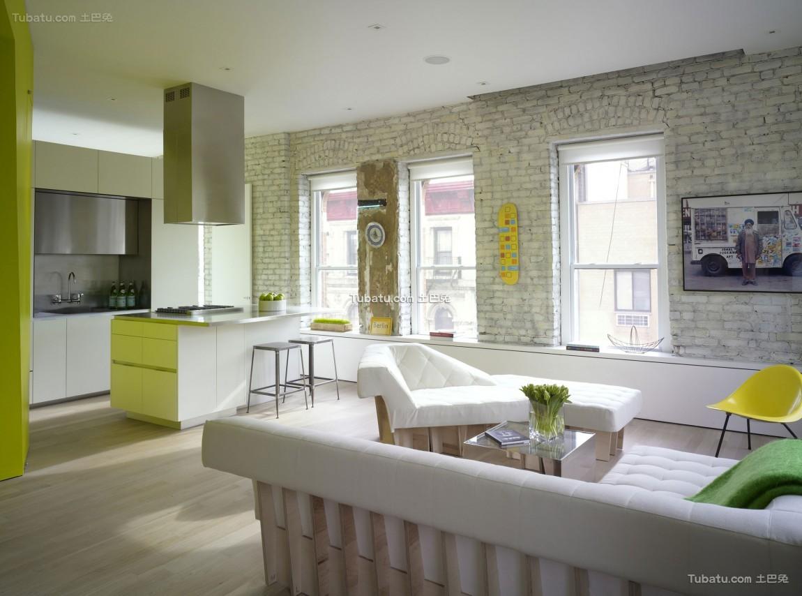 混搭小清新风格一居室设计