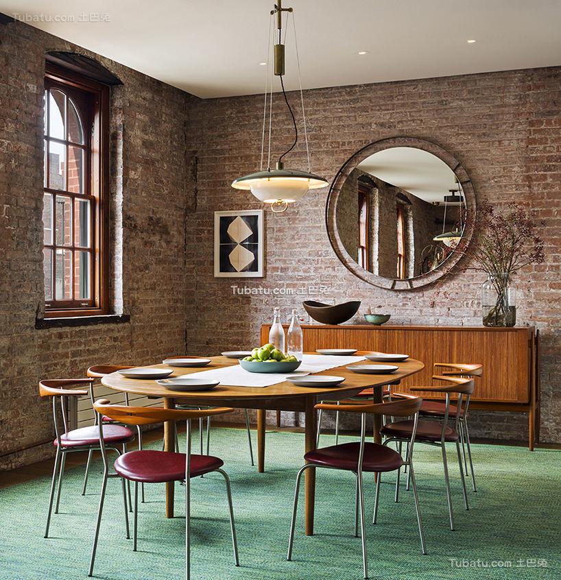 混搭loft设计餐厅效果图