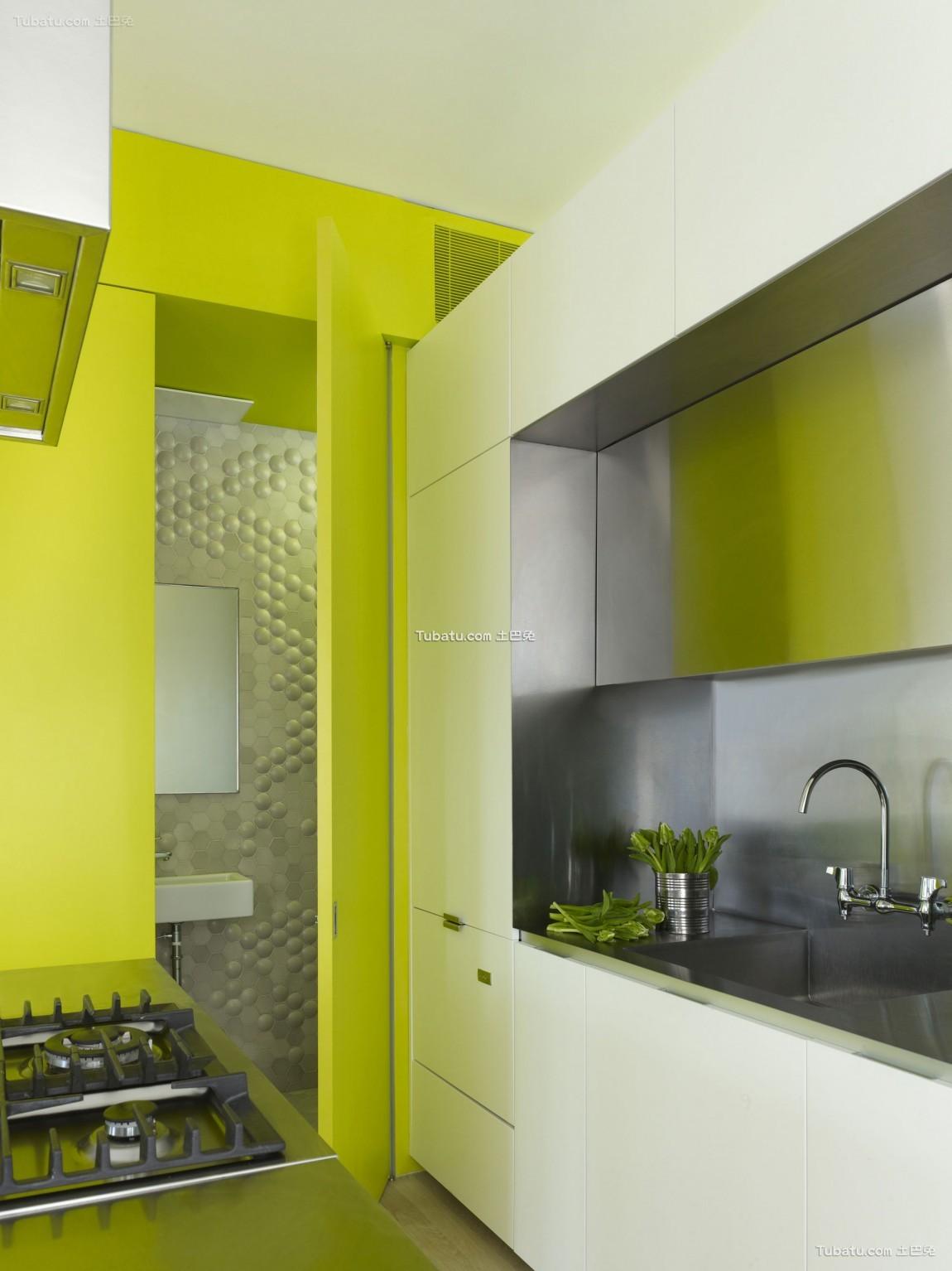 混搭小清新风格厨房设计