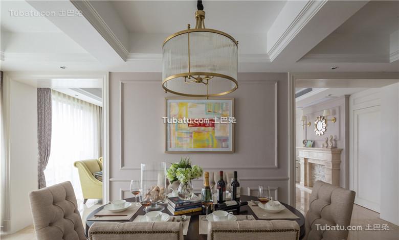 美式室内餐厅吊灯设计效果图