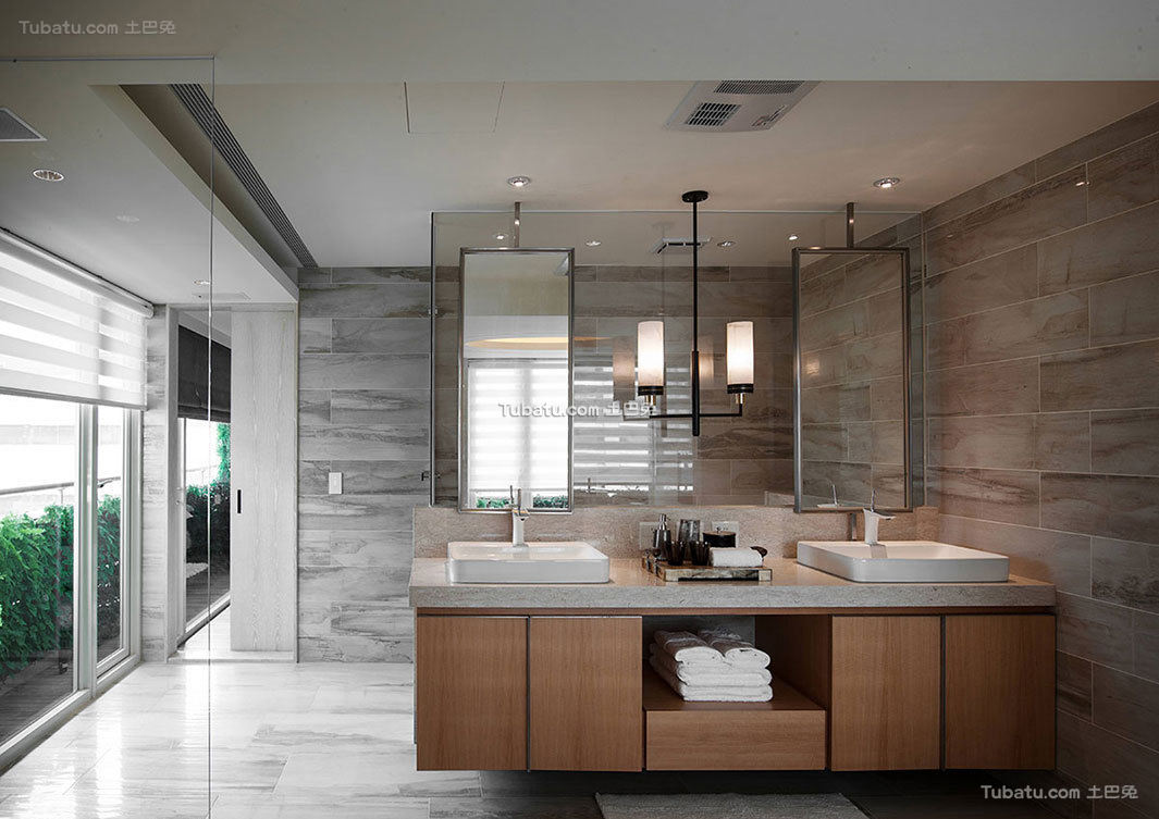 现代公寓室内卫生间设计效果图