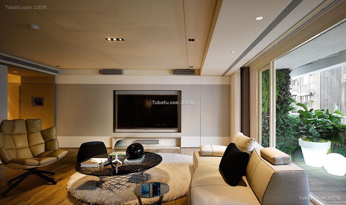 现代极简大公寓室内设计效果图