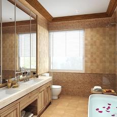 欧式现代别墅浴室装修设计效果图片